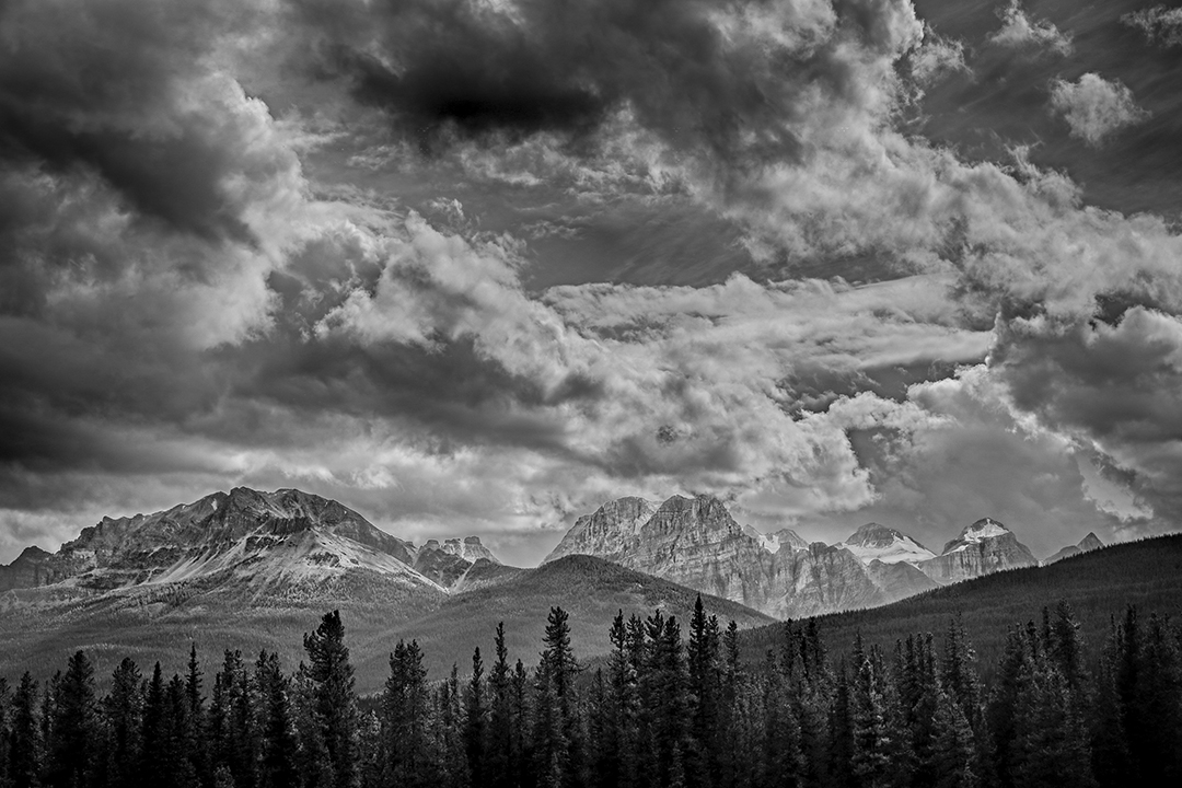 Banff-Bow-Valley-Parkway-Alberta-hdr-a-mono